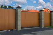 Откатные ворота Doorhan, вид снаружи