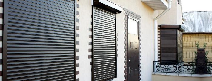 Защитные роллеты на окнах
